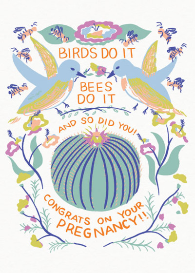 Birds Do It | Personalised Congratulations Card