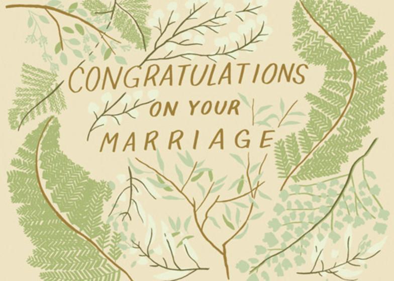 Wedding Greenery | Personalised Congratulations Card
