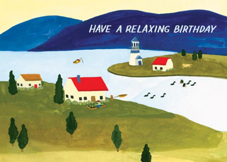 Seaside Town | Personalised Birthday Card