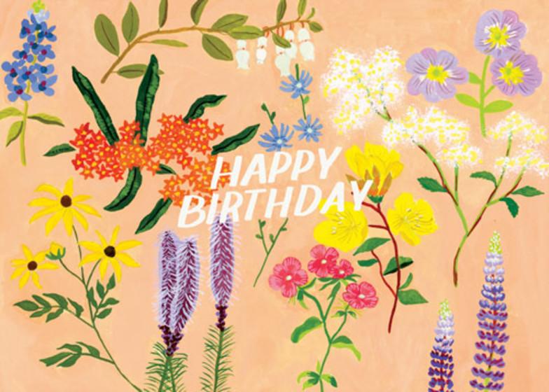 Floral Birthday Pink | Personalised Birthday Card