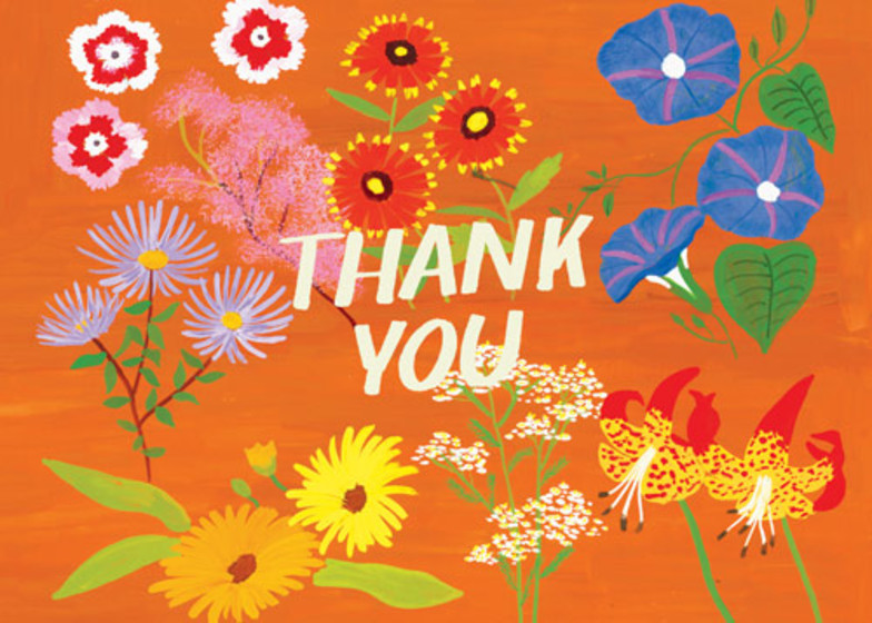 Wild Flower Thank You | Personalised Thank You Card