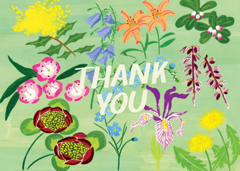 Meadow Flower Thank You | Personalised Thank You Card