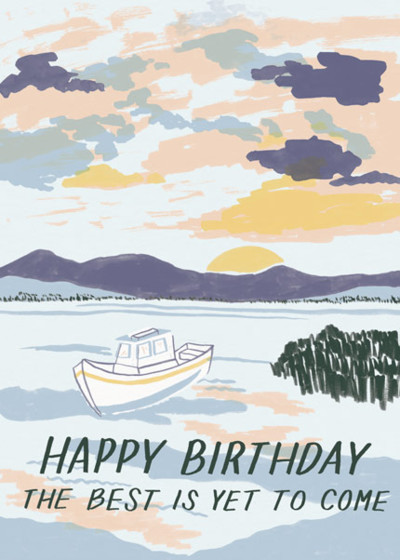 Sunrise Boat Birthday | Personalised Birthday Card
