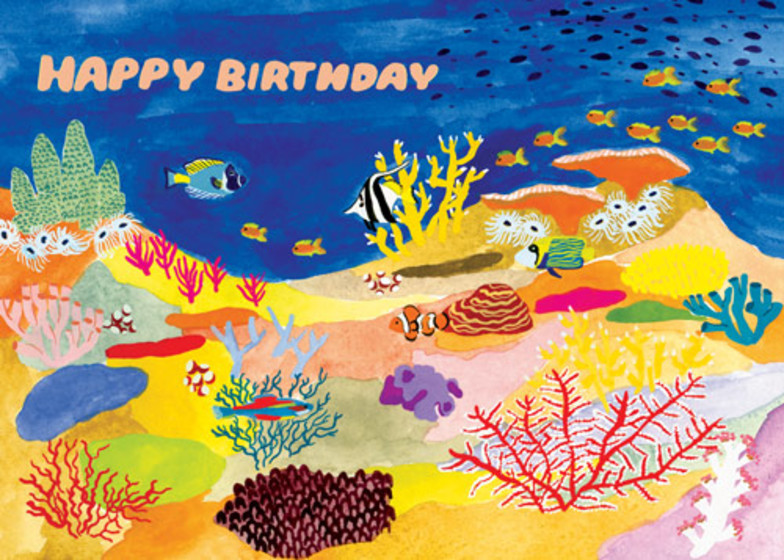 Coral Reef | Personalised Birthday Card