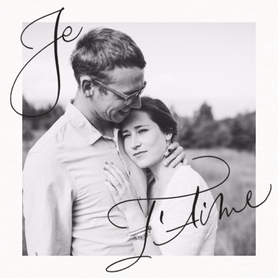Je T'aime Border Photo | Personalised Greeting Card