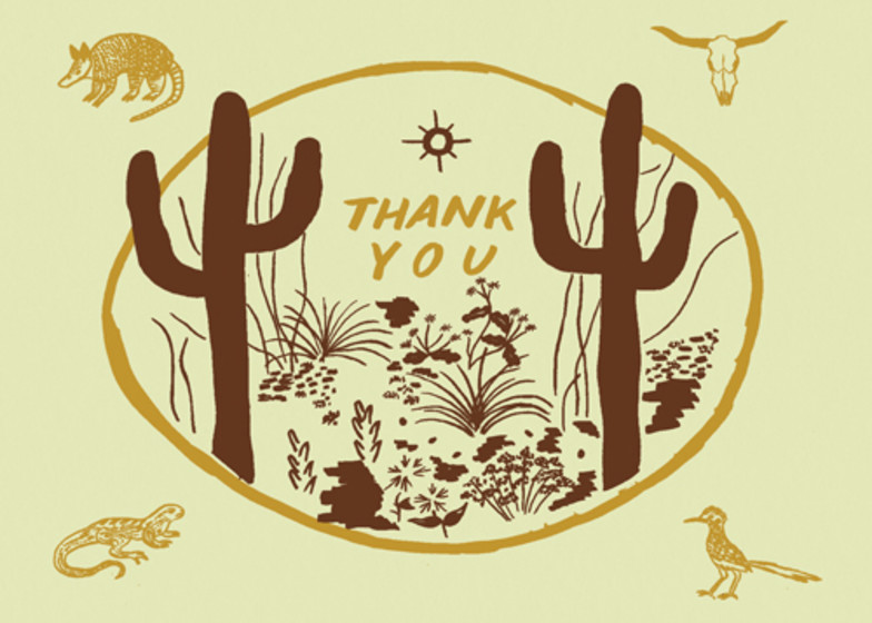 Sonoran Desert | Personalised Thank You Card