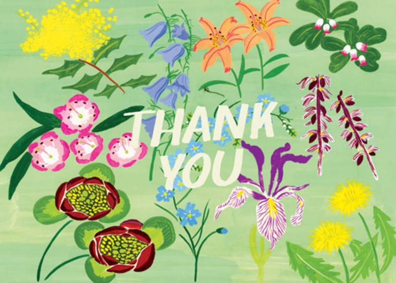 Meadow Flower Thank You | Personalised Thank You Card Set