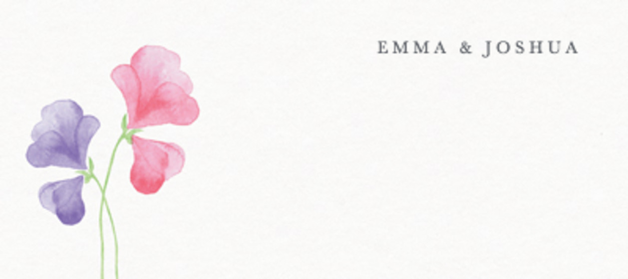 Pink Sweet Peas   Personalised Place Name