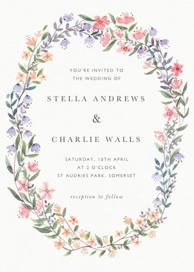 Spring Wildflowers | Personalised Wedding Invitation