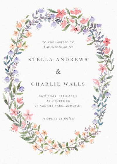 Spring Wildflowers | Personalised Wedding Invitation