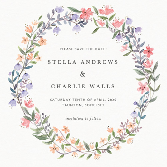 Spring Wildflowers | Personalised Save The Date