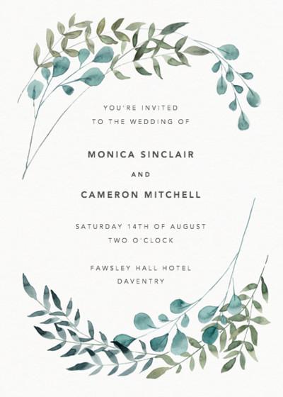 Greenery   Personalised Wedding Invitation