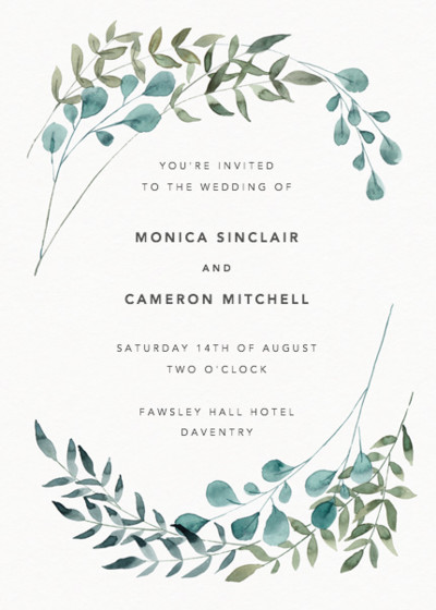 Greenery | Personalised Wedding Invitation