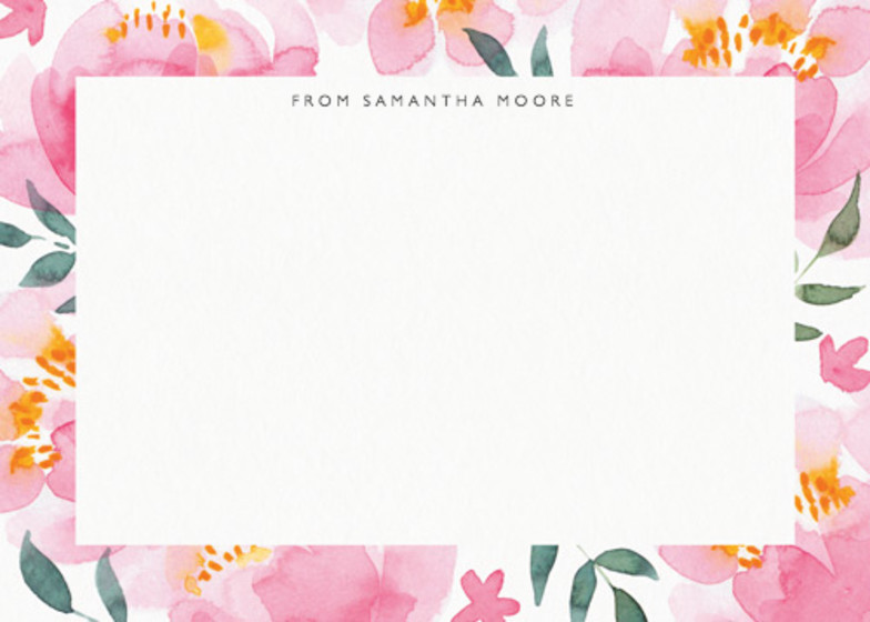 Peony | Personalised Stationery Set