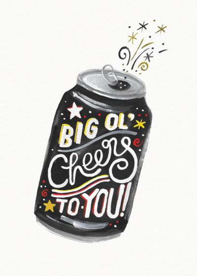 Big Ol' Cheers    Personalised Birthday Card