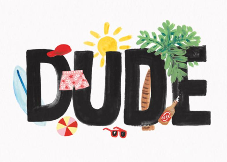 Beach Dude  | Personalised Birthday Card