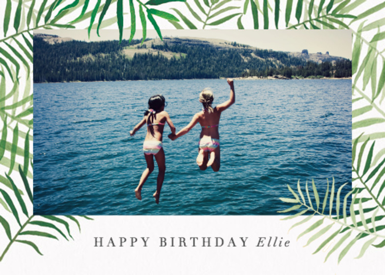 Palms Photo | Personalised Birthday Card