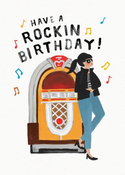 Rockin Birthday | Personalised Birthday Card