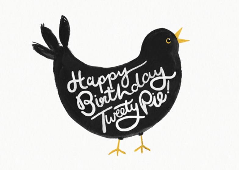 Tweety Pie    Personalised Birthday Card