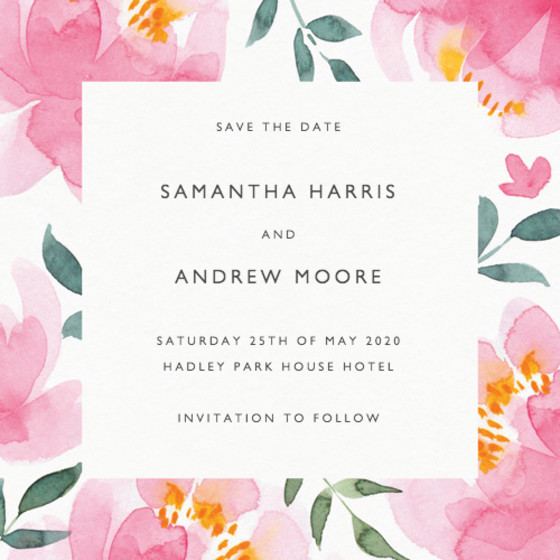 Peony | Personalised Save The Date