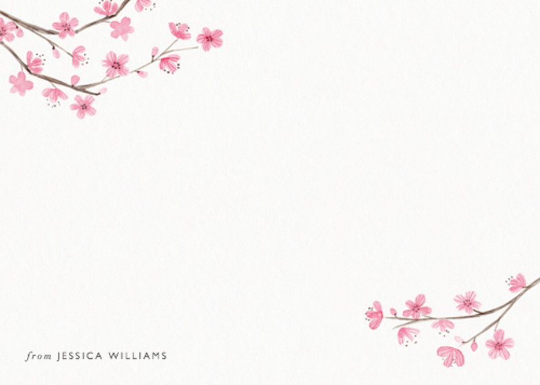 Blossom | Personalised Stationery Set