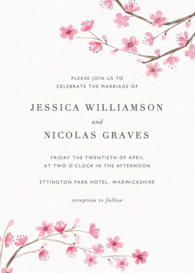 Blossom | Personalised Wedding Invitation