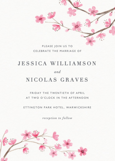 Blossom | Personalised Wedding Invitation