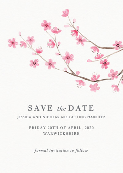 Blossom | Personalised Save The Date