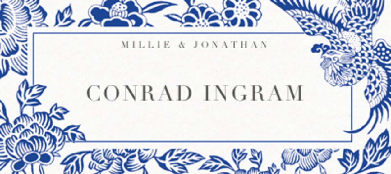 Chinese Blue Florals | Personalised Place Name