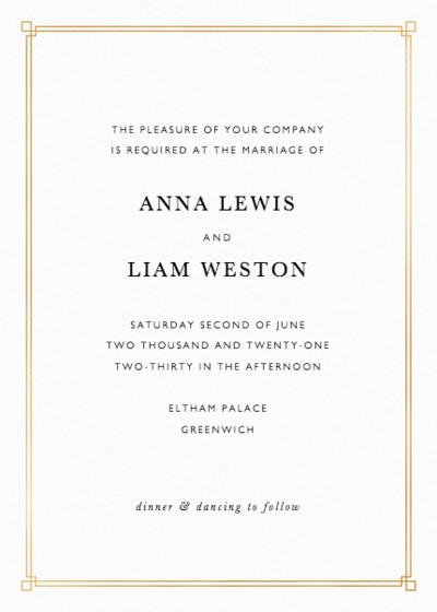 Deco Corners | Personalised Foiled Wedding Invitation