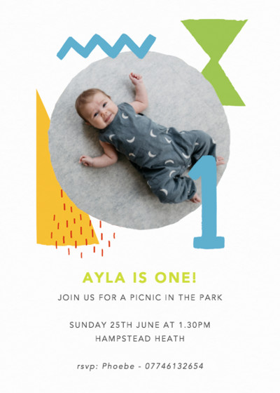 Shapes & Colours One | Personalised Party Invitation