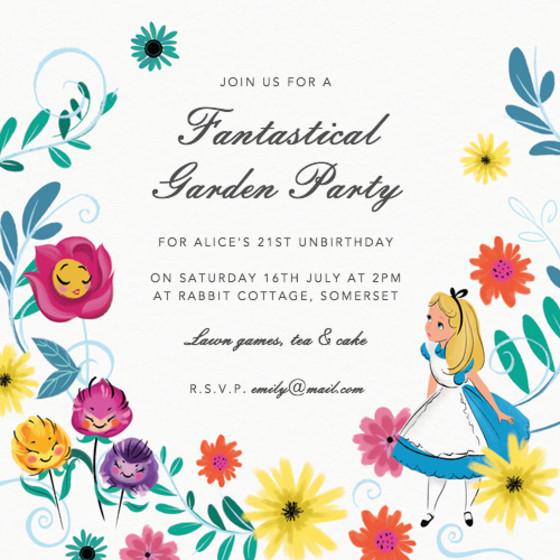 Alice In Wonderland | Personalised Party Invitation