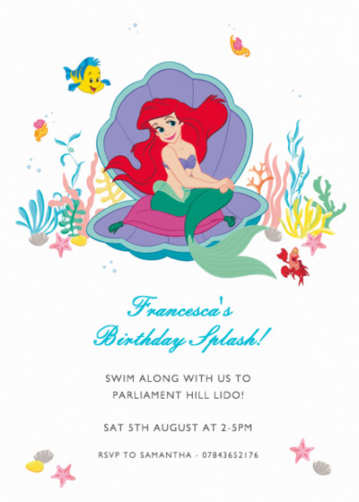 The Little Mermaid | Personalised Party Invitation