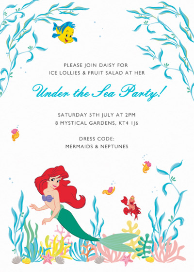 Under The Sea | Personalised Party Invitation
