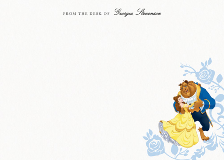 Belle & The Beast   Personalised Stationery Set