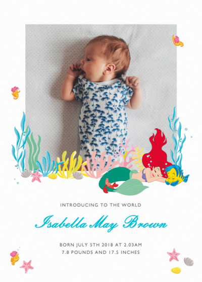 Under The Sea | Personalised Birth Announcement