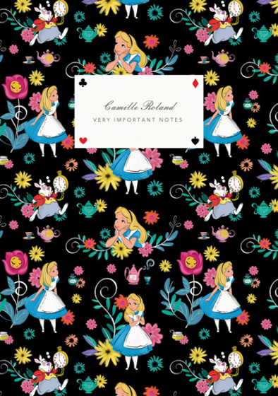 Alice In Wonderland | Personalised Lined Notebook