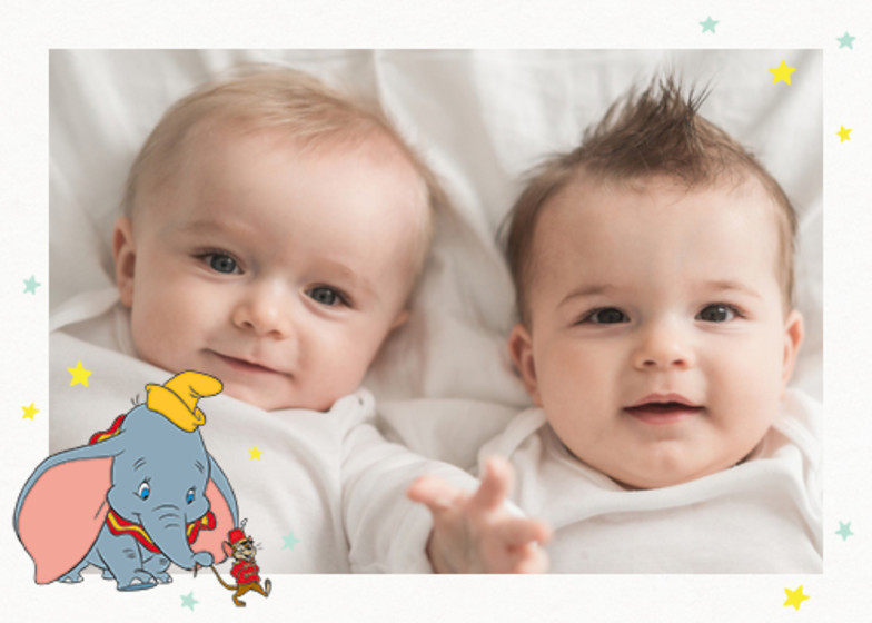Dumbo & Timothy Q. Mouse | Personalised Thank You Card Set
