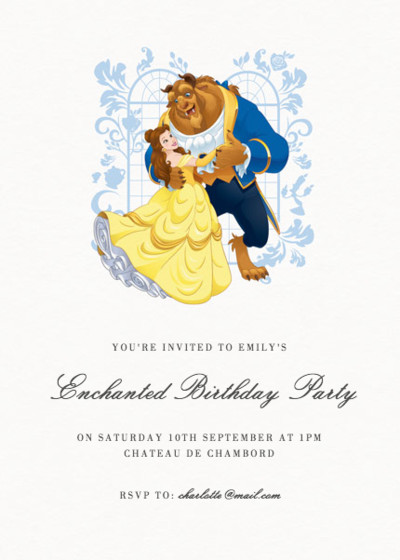 Belle & The Beast | Personalised Party Invitation