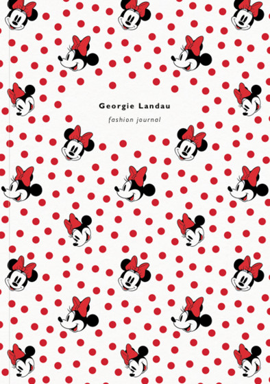 Minnie Mouse | Personalised Lined Notebook