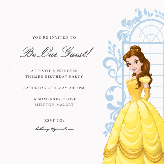 Belle | Personalised Party Invitation