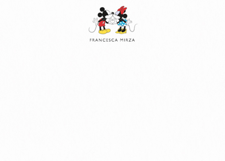 Mickey & Minnie Mouse | Personalised Stationery Set