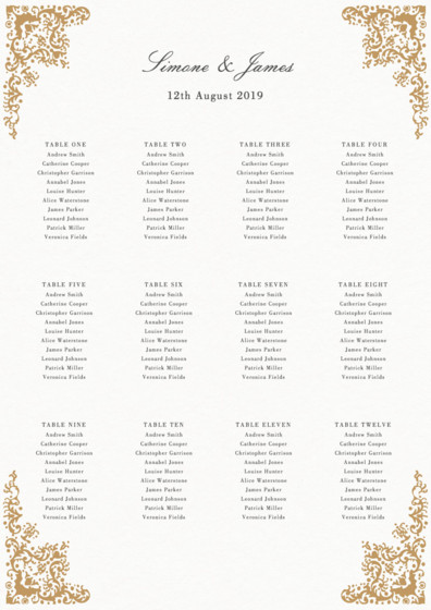 Rococo | Personalised Table Plan
