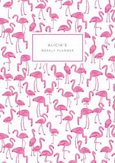 Flamingos   Personalised Planner