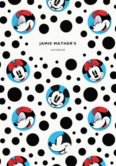 Mickey & Minnie Mouse Blue | Personalised Limited Edition Notebook