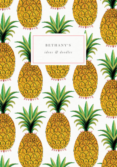 Pineapple | Personalised Dotted Notebook