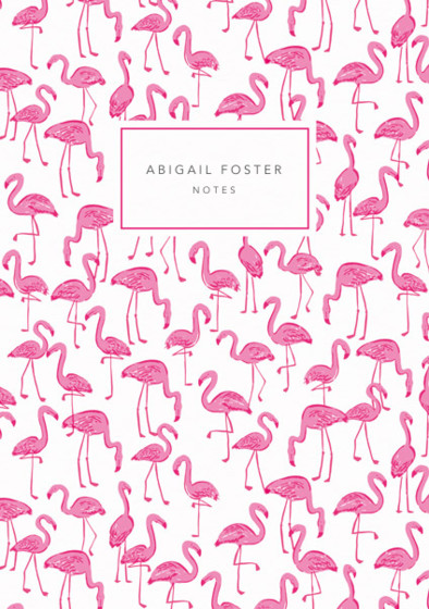 Flamingos | Personalised Dotted Notebook