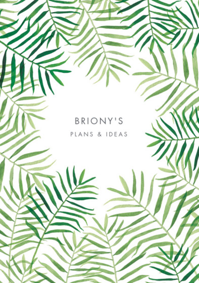 Palm Fronds | Personalised Dotted Notebook