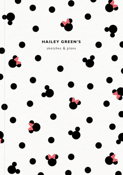 Mickey & Minnie Mouse | Personalised Dotted Notebook