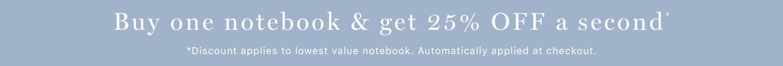 Notebooks tablet promo banner